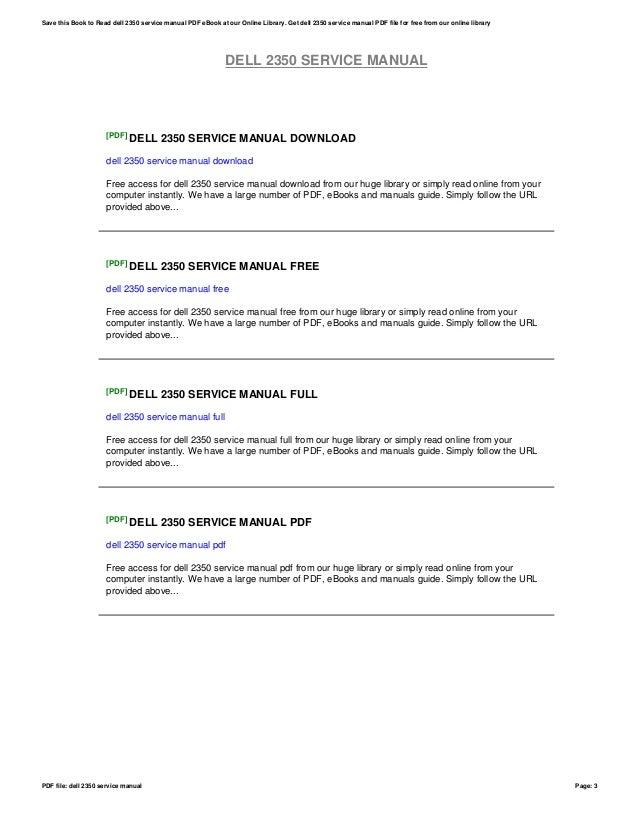 dell service manuals download