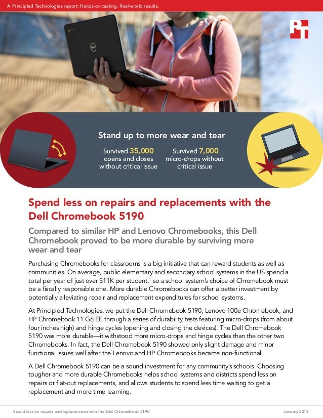 Spend less on repairs and replacements with the Dell