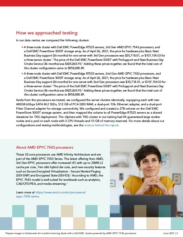How we approached testing In our data center, we compared the following clusters: •A three-node cluster with Dell EMC Pow...