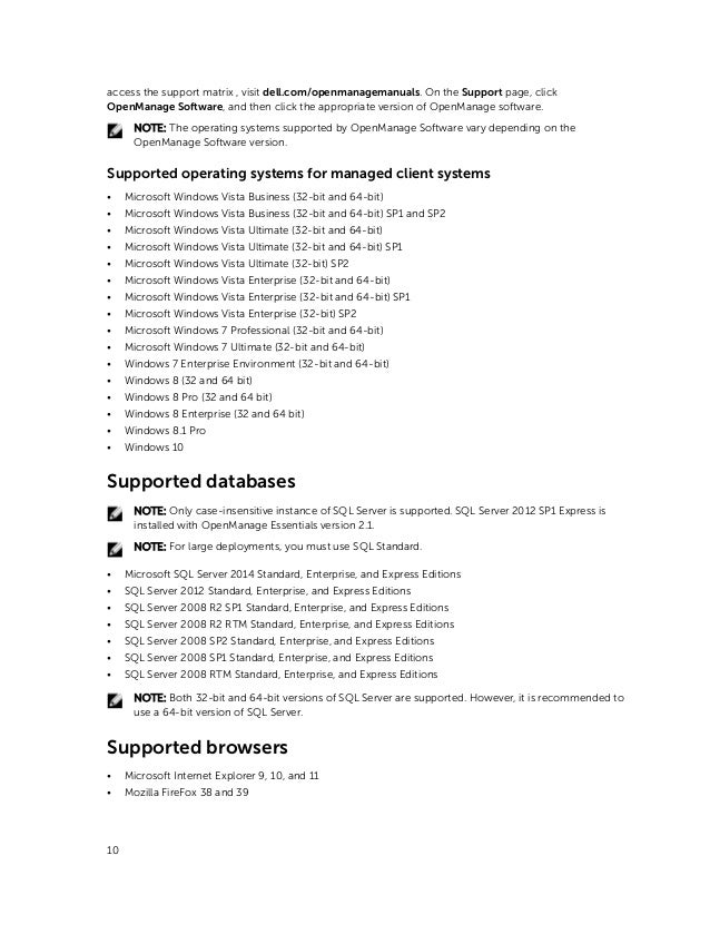 Dell openmanage-essentials-v2 1 reference guide-en-us