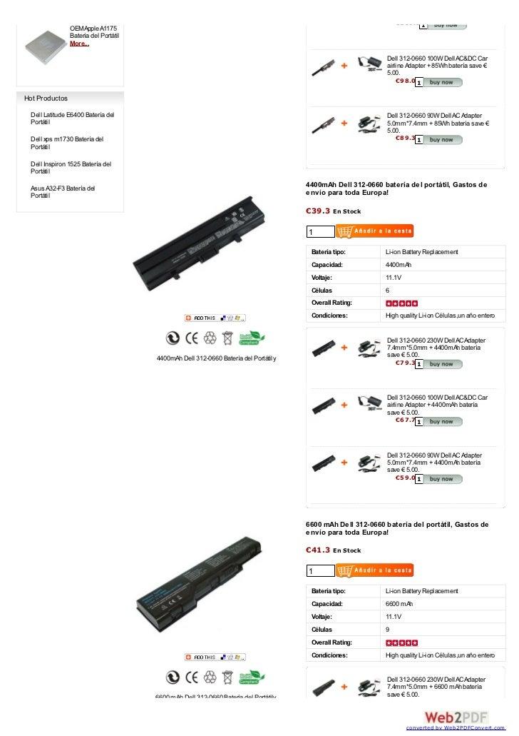 Dell 312 0660 batería  at www-baterias-portatil-es Slide 2