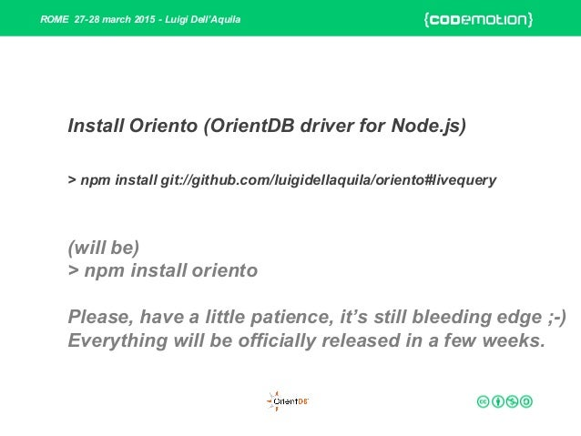 Fully Reactive - from Data to UI with OrientDB + Node js +