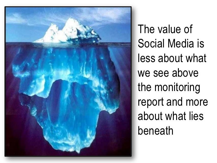The value of Social Media is less about what we see above the monitoring report and more about what lies beneath<br />