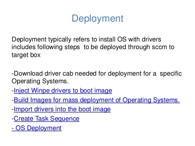 Dell biz client driver cab os deployment using sccm dcip