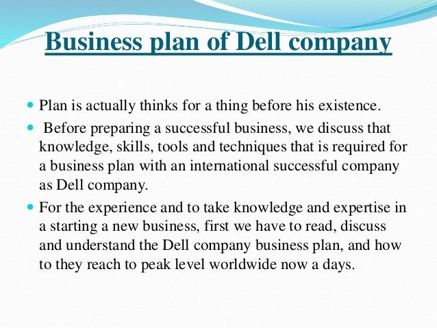 dell business plan