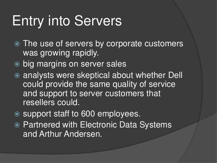 Entry strategy for dell computer