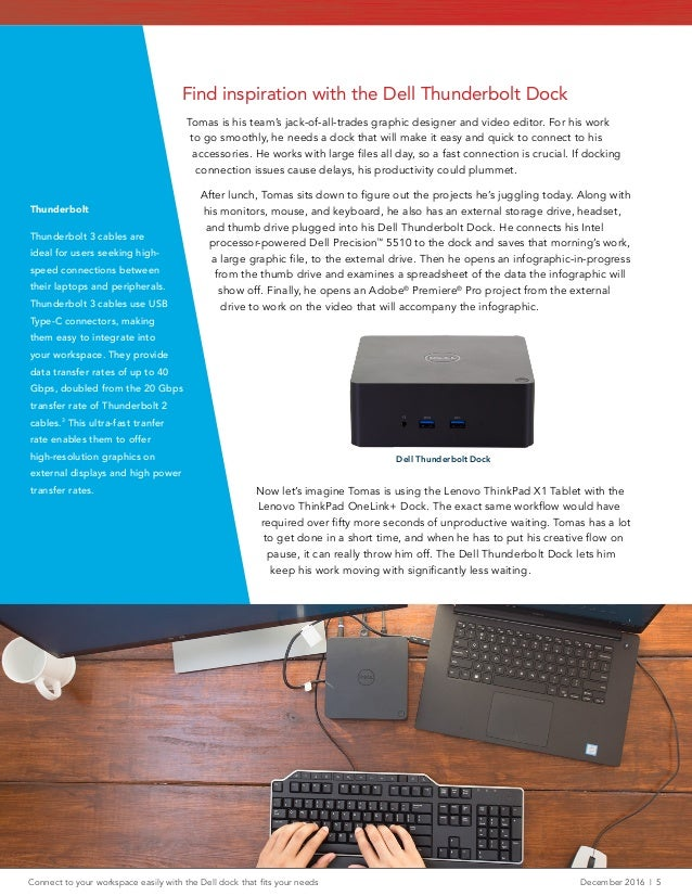 Connect to your workspace easily with the Dell dock that