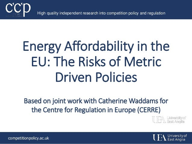 Energy Affordability In The EU Risks Of Metric Driven Policies