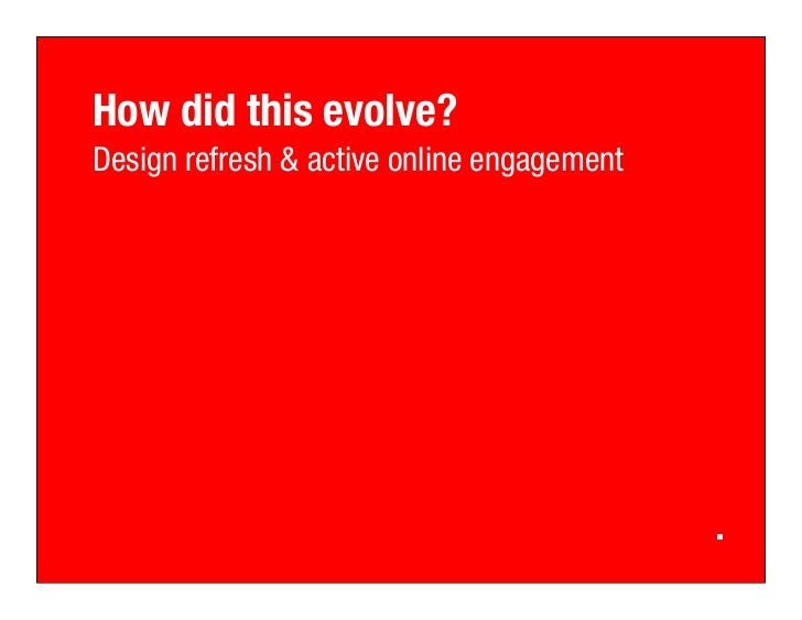 How did this evolve? Design refresh & active online engagement