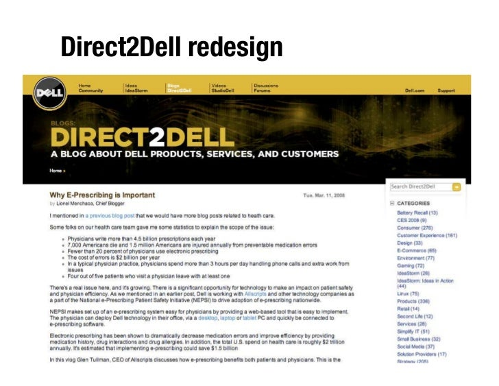 Direct2Dell redesign