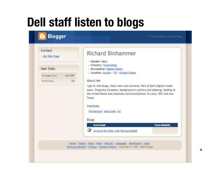 Dell staff listen to blogs