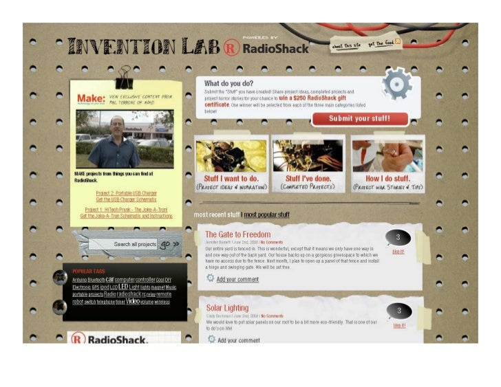 Invention Lab Model   Positioning:    Sharing ideas & getting involved    It's about:    Providing a forum to encourage th...