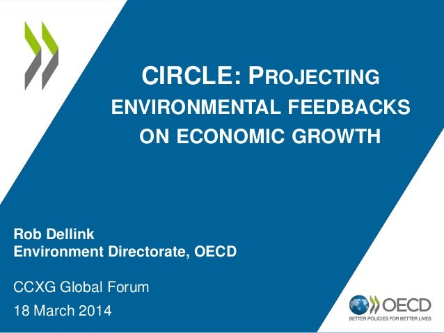 CIRCLE: PROJECTING ENVIRONMENTAL FEEDBACKS ON ECONOMIC GROWTH Rob Dellink Environment Directorate, OECD CCXG Global Forum ...