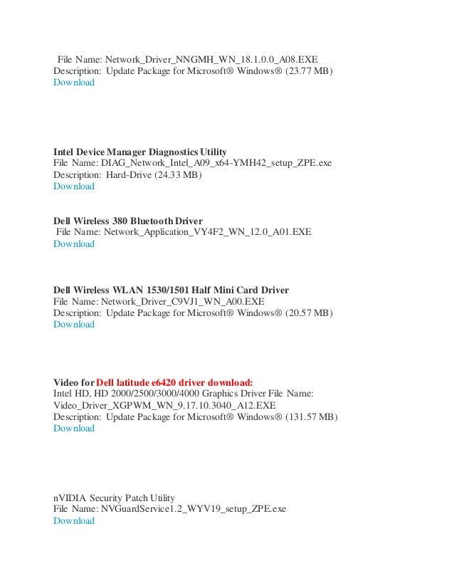 Dell latitude e6420 drivers windows 7 64 bit - 32bit