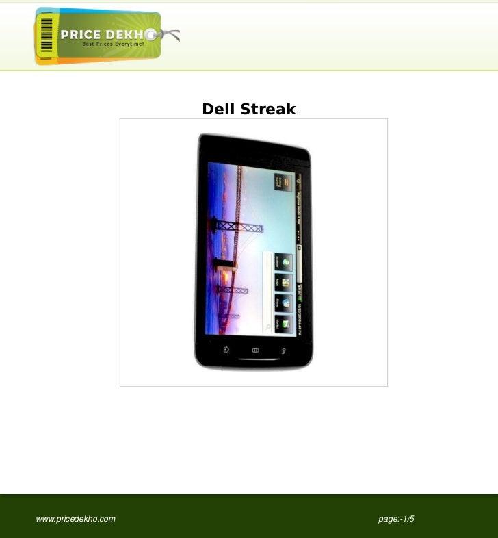 Dell Streakwww.pricedekho.com                 page:-1/5