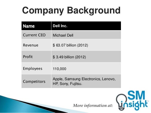 Dell inc company overview and customer service strategies