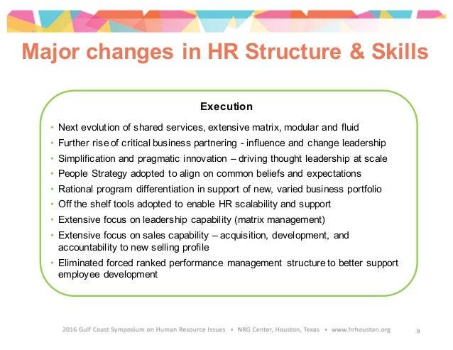 Execution • Next evolution of shared services, extensive matrix, modular and fluid • Further rise of critical business par...