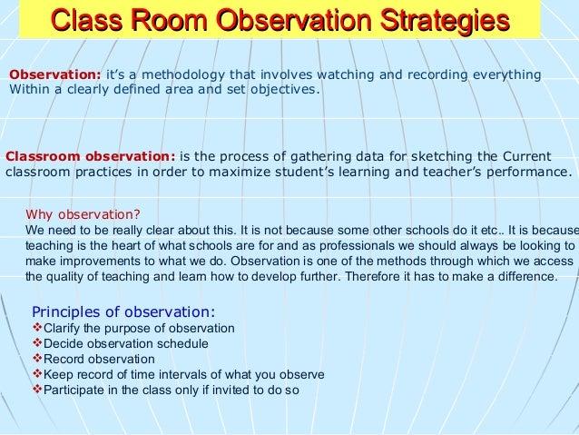 Classroom Observation Check listClassroom Observation Check list Da r - e - Ar q a m S cho o l M.B.Q Campus Abbottabad Dat...