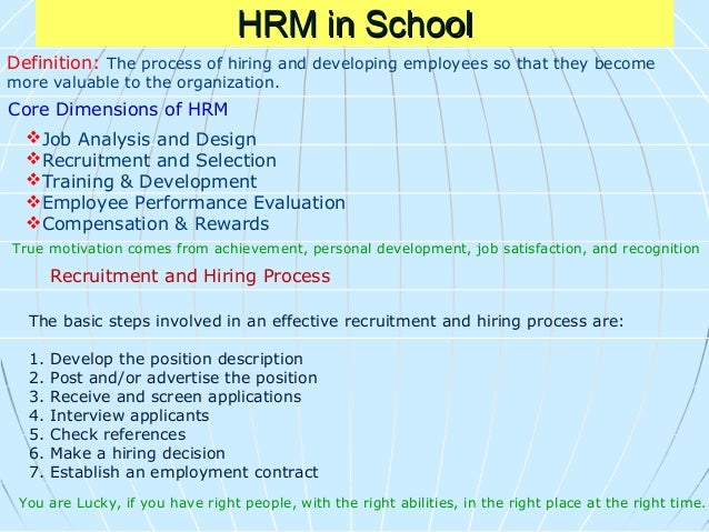 Selection Process The Use of Technology in Human Resources Administration •Cost-effectiveness •Efficiency •Engagement-empl...