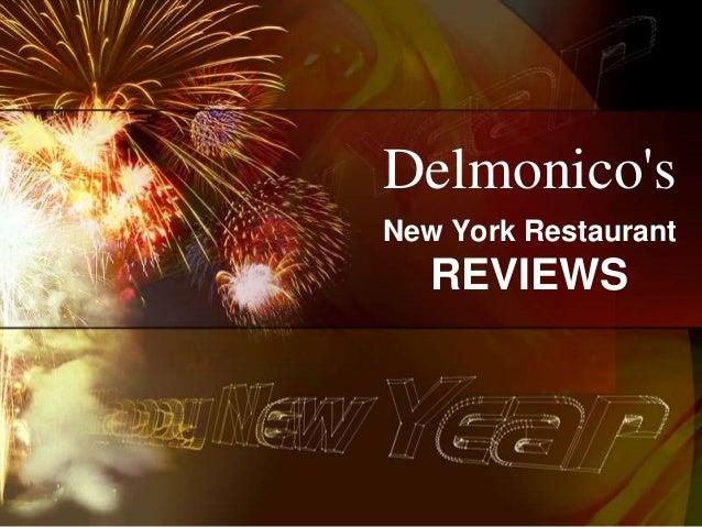 DelmonicosNew York Restaurant   REVIEWS