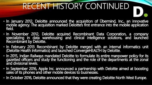 STRUCTURE OF US DELOITTE Deloitte Deloitte & Touché LLP Deloitte Consulting LLP Deloitte Financial Advisory Services LLP D...