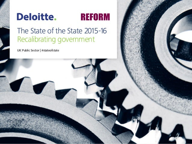 The State of the State 2015-16 Recalibrating government UK Public Sector | #stateofstate
