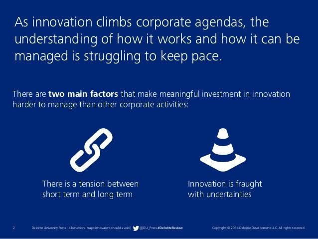4 Behavioral Traps Innovators Should Avoid Slide 2