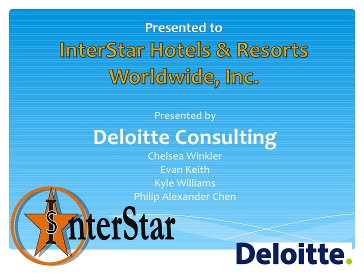 Presented byDeloitte Consulting       Chelsea Winkler          Evan Keith         Kyle Williams    Philip Alexander Chen