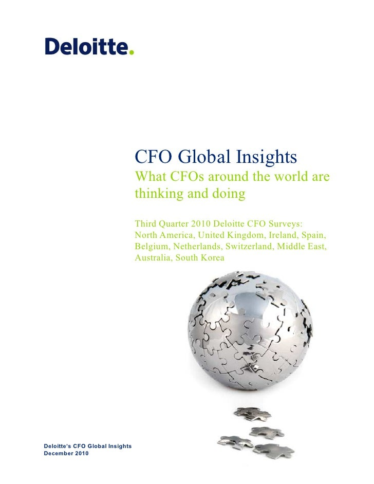 CFO Global Insights                                 What CFOs around the world are                                 thinkin...