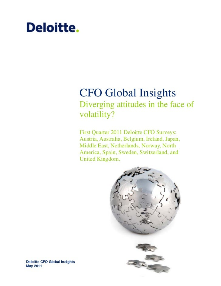 CFO Global Insights                               Diverging attitudes in the face of                               volatil...