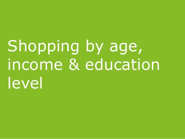 Shopping by age, income & education level