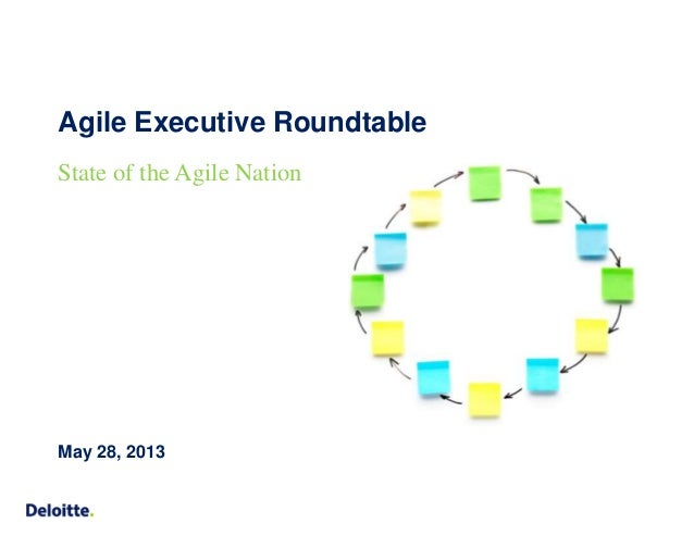 Agile Executive Roundtable  State of the Agile Nation  May 28, 2013