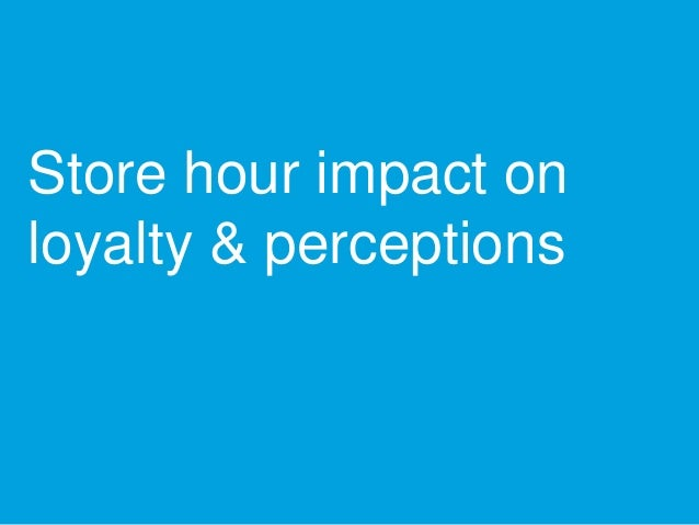 Store hour impact on loyalty & perceptions