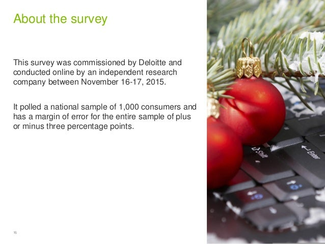 16 Copyright © 2015 Deloitte Development LLC. All rights reserved. About the survey This survey was commissioned by Deloit...