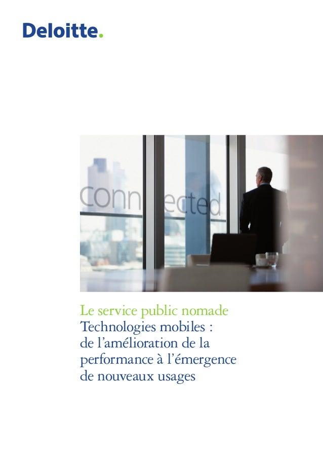 Le service public nomade Technologies mobiles : de l'amélioration de la performance à l'émergence de nouveaux usages