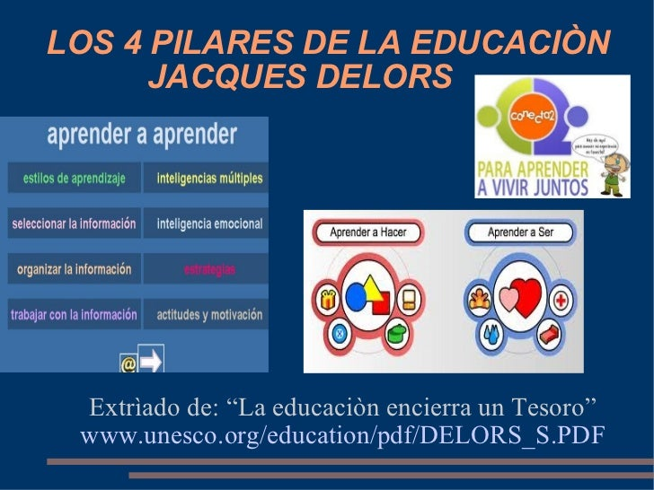 los 4 pilares de la educacion Los cuatro pilares de la educacion - free download as word doc (doc), pdf file (pdf), text file (txt) or read online for free.