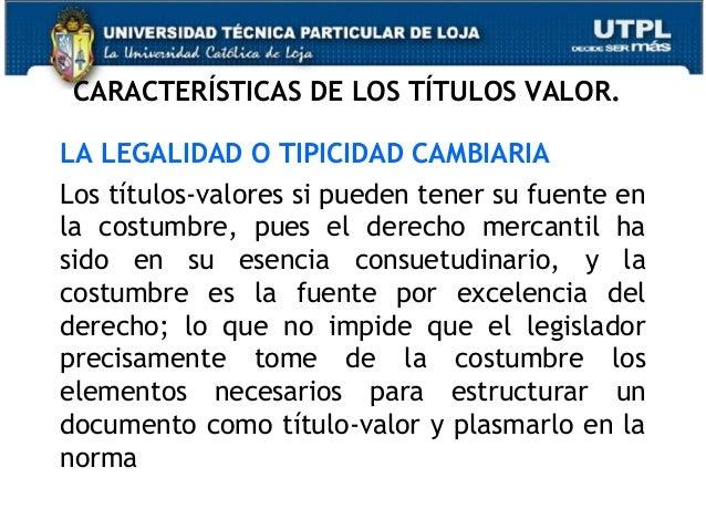 De Los Titulos De Valor