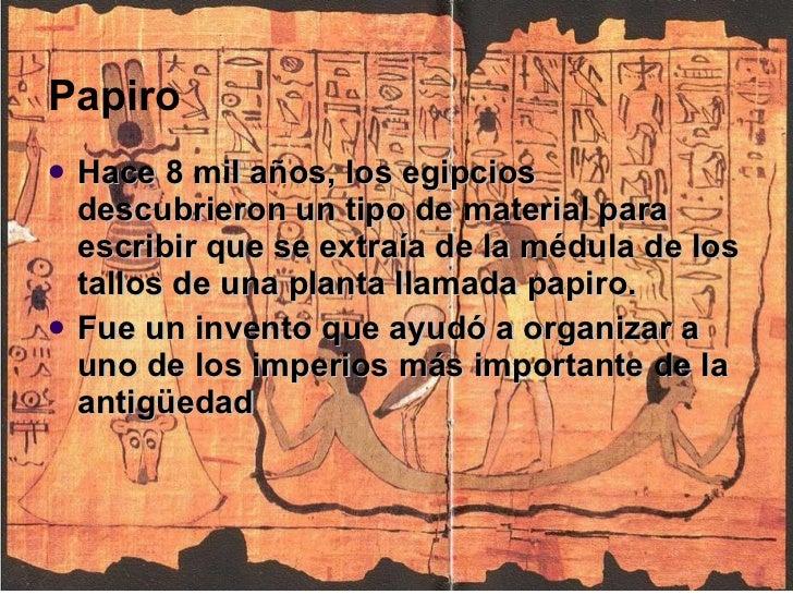Del papiro a la imprenta