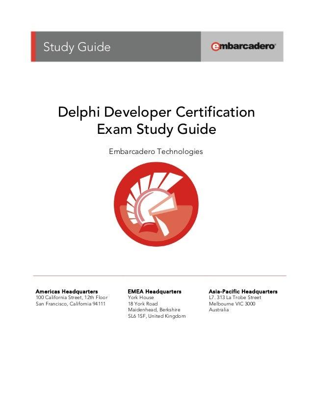 delphi developer certification study guide rh slideshare net delphi developer's guide to xml delphi developer's guide pdf