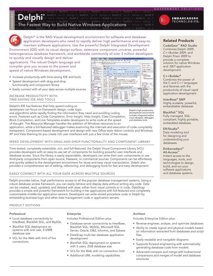 Build Native Windows Applications for Government Agencies | Delphi
