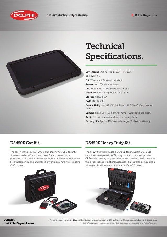 DELPHI DS450E Diagnostics Brochure EN
