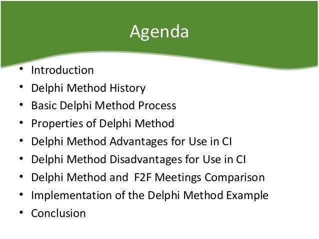 advantages of the delphi technique Qualitative and quantitative analysis each offer advantages and disadvantages  the advantages of qualitative forecasting  delphi method.