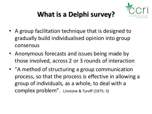 Using and Reporting the Delphi Method for Selecting ...