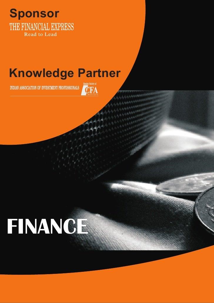 Sponsor    Knowledge Partner     FINANCE