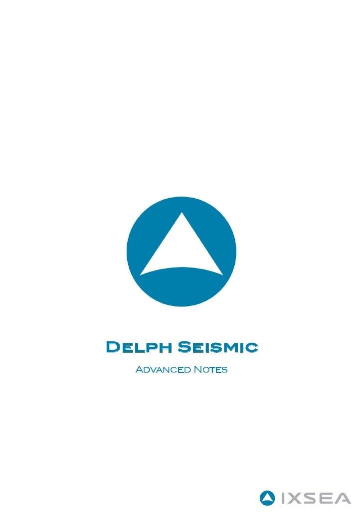 Delph Seismic   Advanced Notes