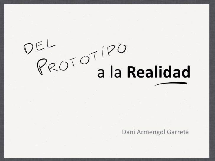a la Realidad   Dani Armengol Garreta