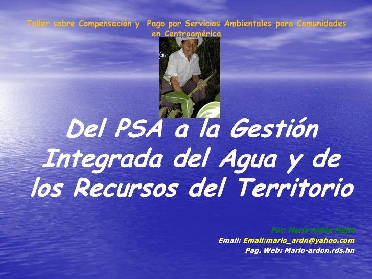 Taller sobre Compensación y Pago por Servicios Ambientales para Comunidades                             en Centroamérica  ...