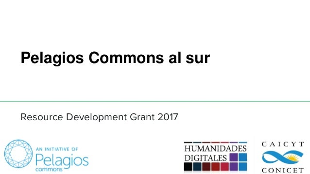 Pelagios Commons al sur Resource Development Grant 2017