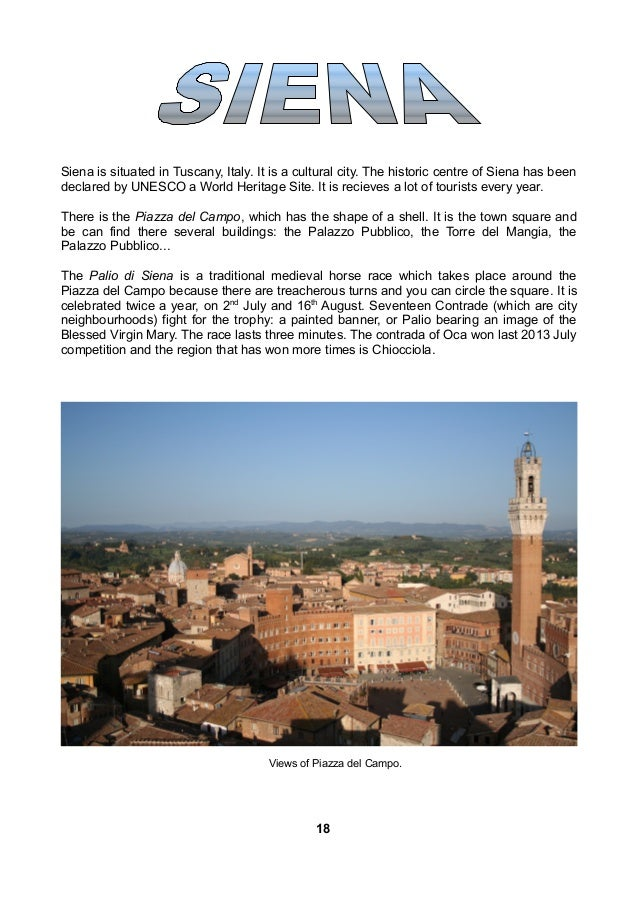 Florence is situated at the fit of the Apenine mountains in Italy. Its buildings and monuments tell stories about art, war...