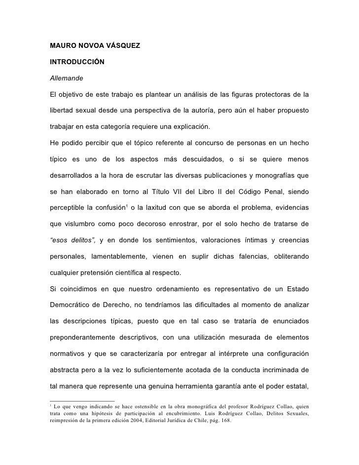 MAURO NOVOA VÁSQUEZ  INTRODUCCIÓN  Allemande  El objetivo de este trabajo es plantear un análisis de las figuras protector...